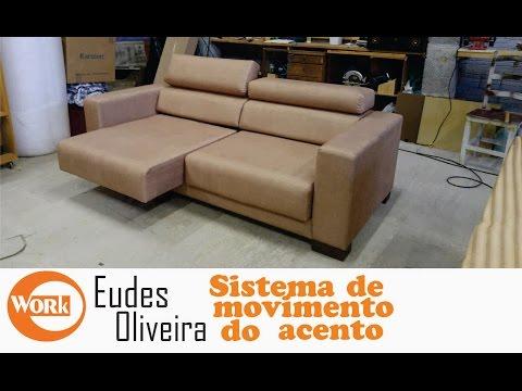 Sofá Retrátil, Sistema Do Acento/ Retractable Sofa Accent Movement System