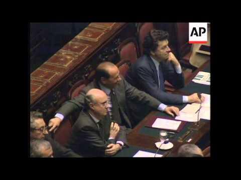 ITALY: SILVIO BERLUSCONI  ON VERGE OF RESIGNING