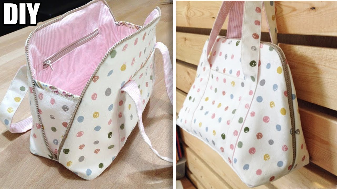 DIY PURSE HANDBAG TUTORIAL // So Cute Zipper Bag Design ...