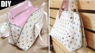 DIY PURSE HANDBAG TUTORIAL // So Cute Zipper Bag Design