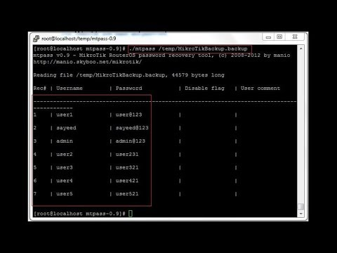 How to Recover MikroTik User Password