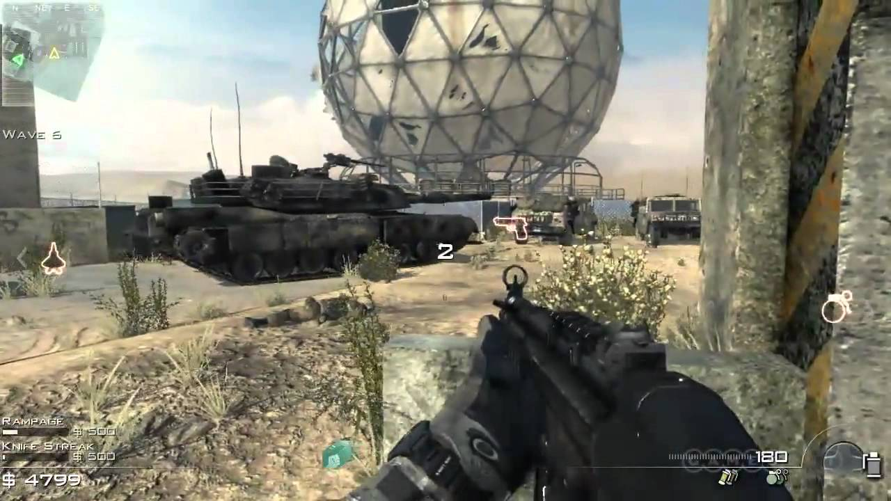 Call Of Duty Modern Warfare 3 Survival Dome Gameplay Xbox 360