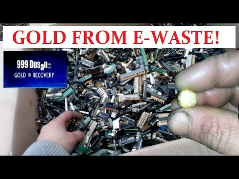 GOLD FROM E-WASTE!