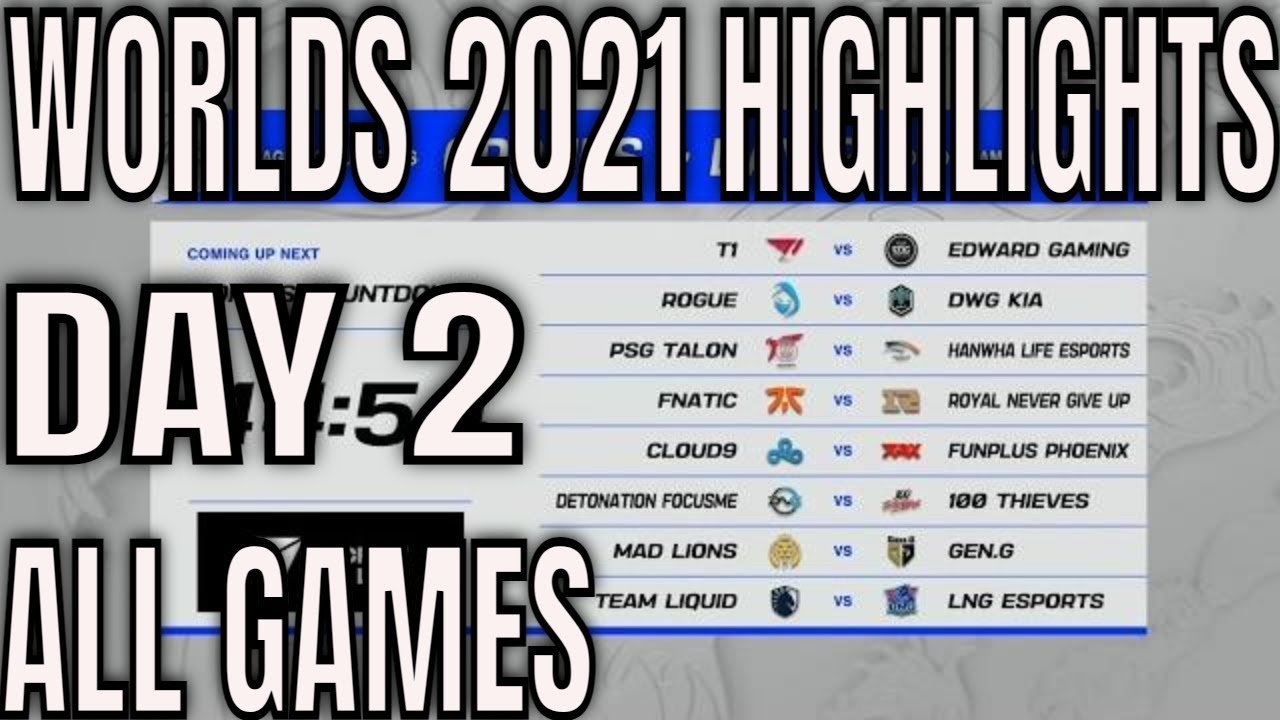 Download Worlds 2021 Day 2 Highlights ALL GAMES