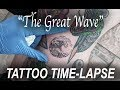 """The Great Wave"" - MINIATURE// Tattoo Time-Lapse"