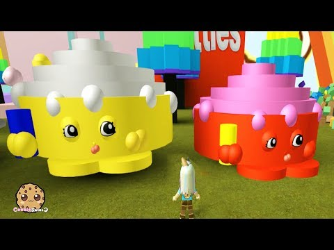 Giant Shopkins ! Lets Play Roblox Games with Cookie Swirl C