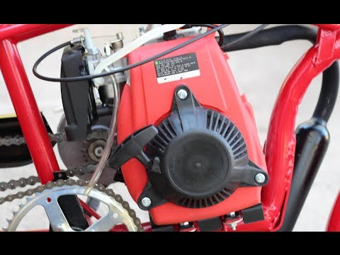 How To Build 4 Stroke Motorized Bicycle Part 4 -  Final Assembly & Starting