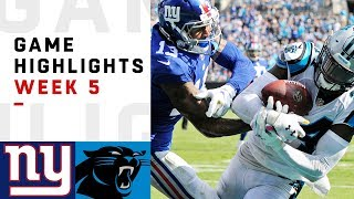 Giants vs. Panthers Week 5 Highlights | NFL 2018