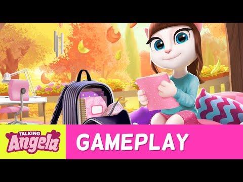 My Talking Angela - School Morning Routine (Gameplay)