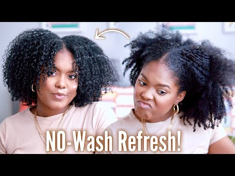 How I Refresh My Curls No Wash! | Natural Hair