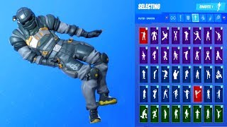 *NEW* Fortnite SLEDGE Skin Showcase with All Dances & Emotes Season 10 Outfit