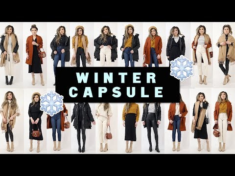 12 PIECES X 24 OUTFITS WINTER CAPSULE Wardrobe 2019 | Miss Louie