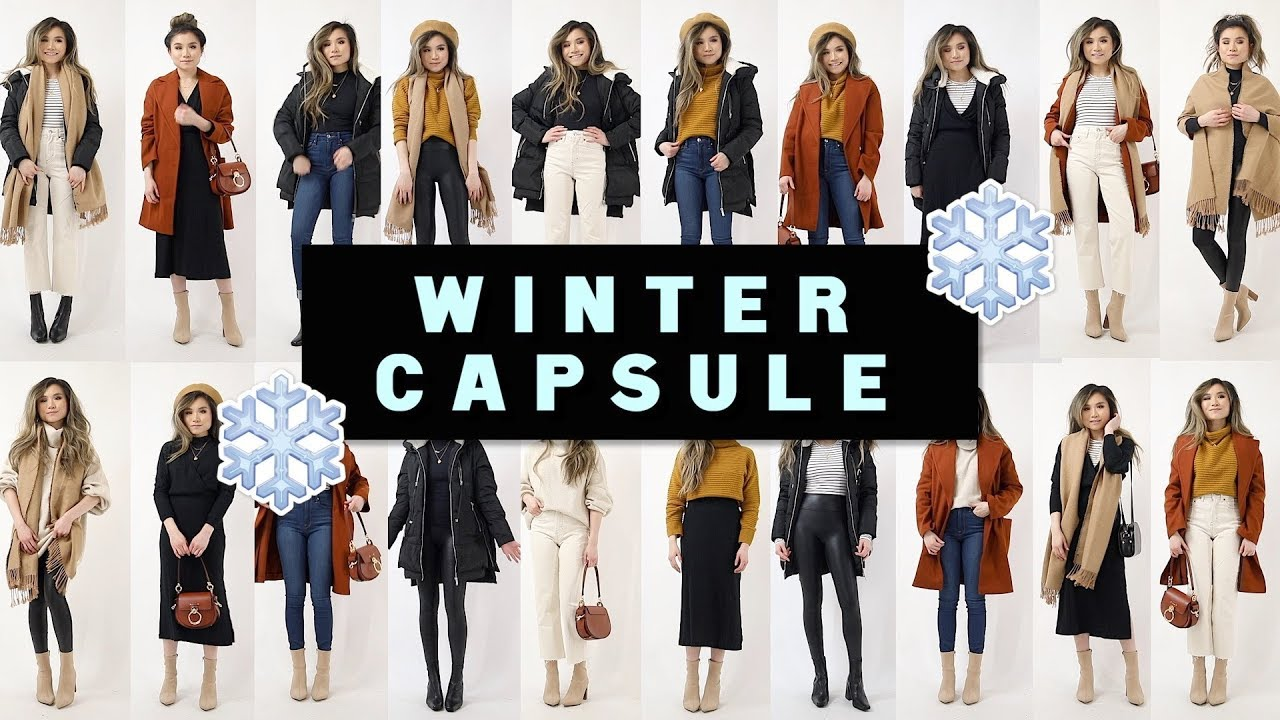 [VIDEO] - 12 PIECES x 24 OUTFITS WINTER CAPSULE Wardrobe 2019   Miss Louie 4