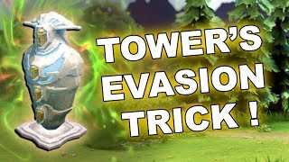 Dota 2 Tricks: Tower's 100% EVASION Trick!