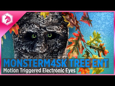 Tree Ent with Motion Triggered Electronic Eyes: Monster M4sk #adafruit