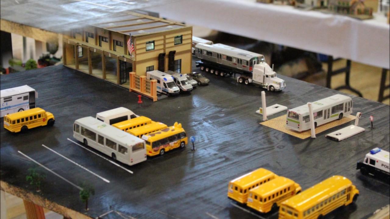 Carpro mtapc bus garage ho 1 87 1 64 youtube for Garage seguin 87