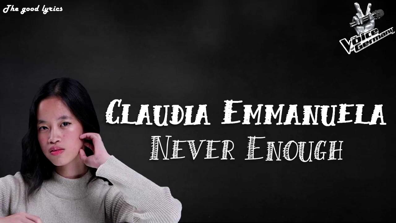 Download Claudia Emmanuela Santoso - Never Enough (Lyrics) - Voice of Germany 2019 | Blinds