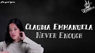 Claudia Emmanuela Santoso - Never Enough (Lyrics) - Voice of Germany 2019 | Blinds