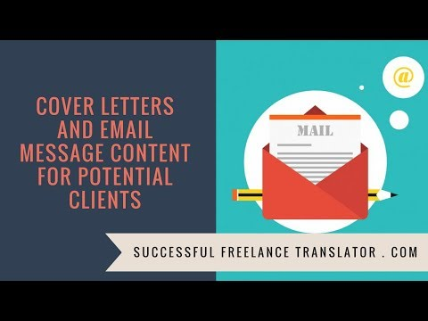 Cover Letters And Email Message Content For Potential Clients.