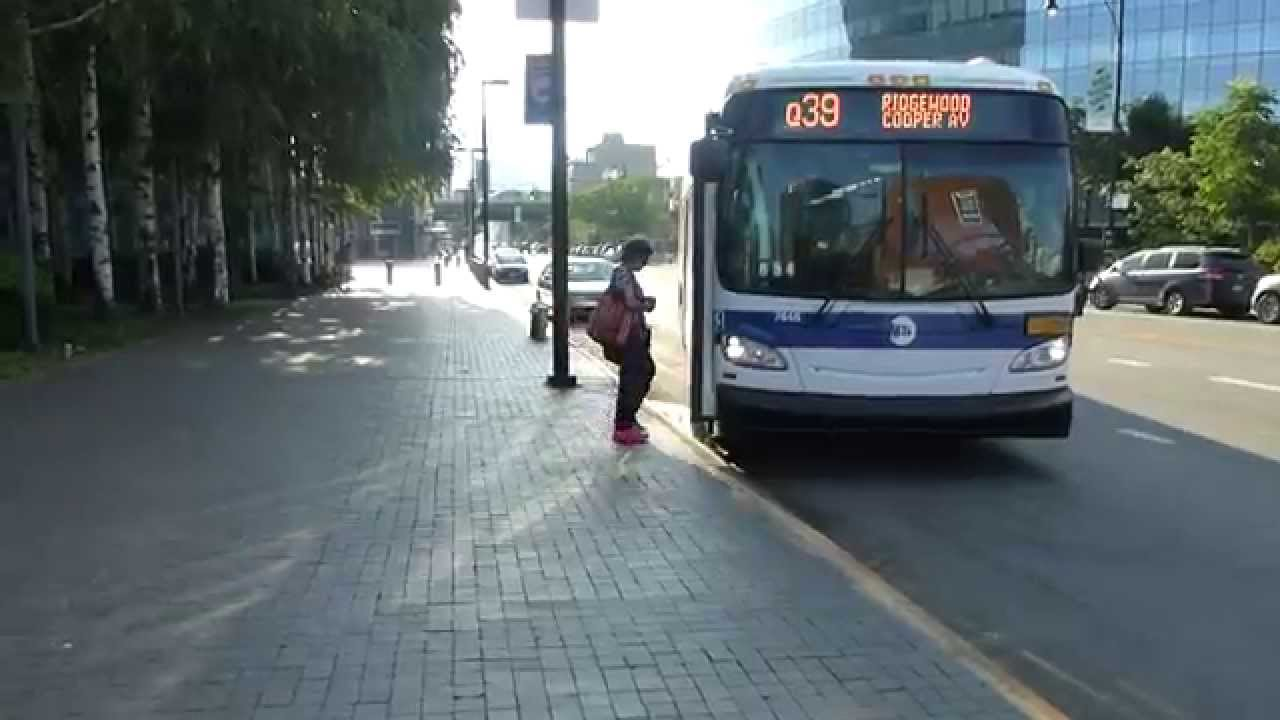 mta bus: 2015 new flyer xd40 xcelsior q39 bus #7448 at jackson ave