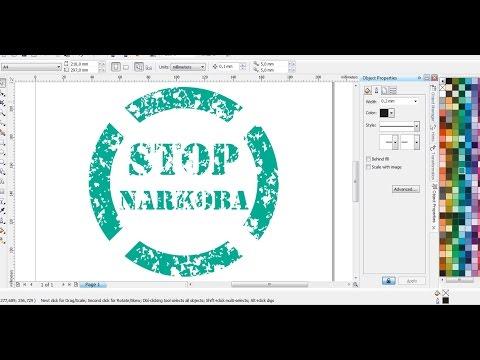 Desain Stop Narkoba Dengan Coreldraw Belajar Coreldraw Youtube