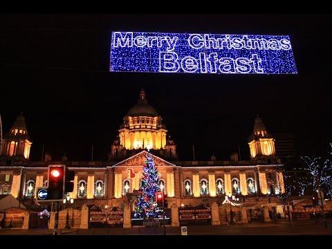 Belfast Christmas Lights Filmed In 4K