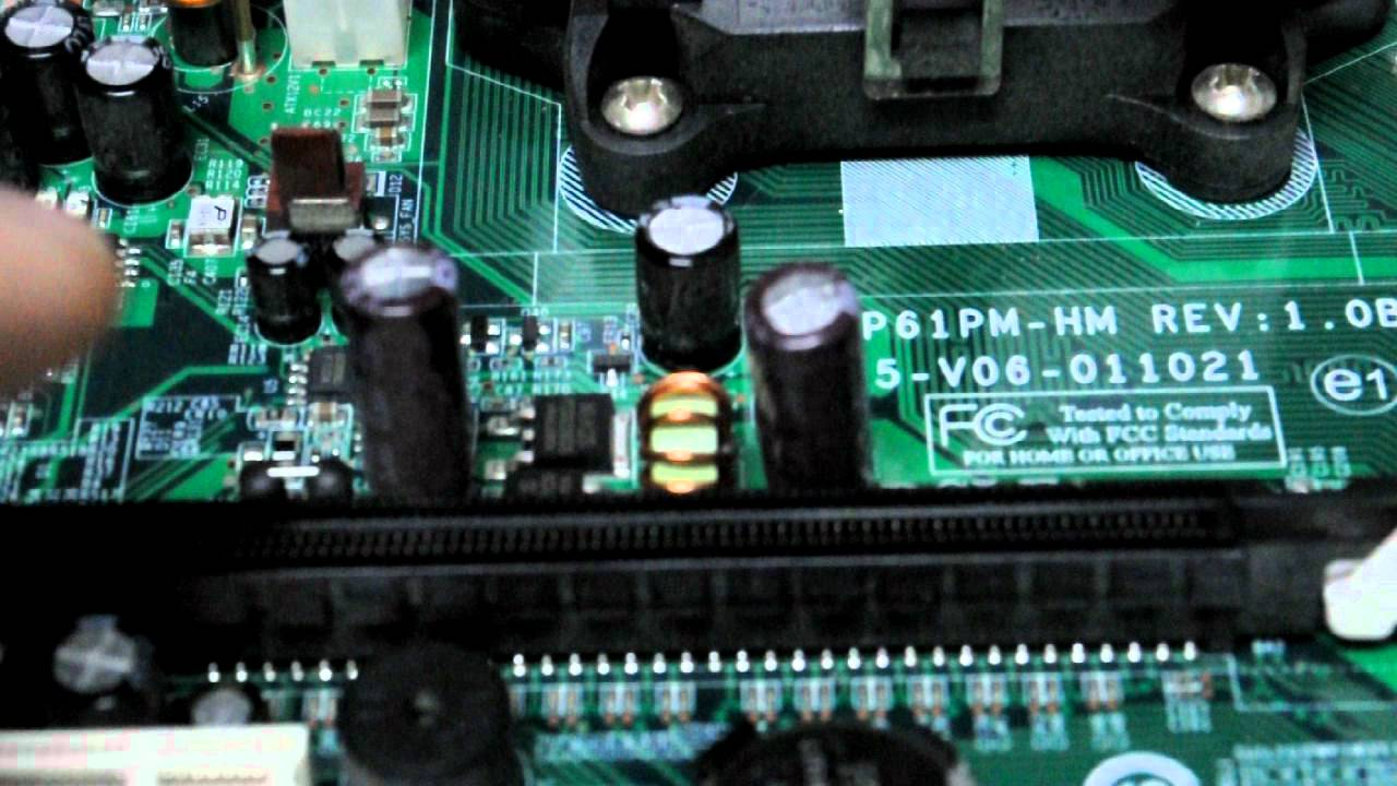 Doubleclickittofixit HP Pavilion desktop capacitor repair to fix a no power  or video issue