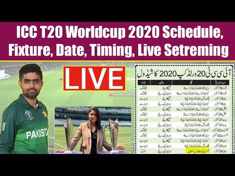ICC T20 Worldcup 2020 Pakistan Team Shedule, Date Time, Live Setreming – Saqi Sport