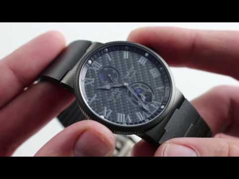 Pre-Owned Ulysse Nardin Marine Chronometer Limited Edition 263-66LE-3C/42BLACK Luxury Watch Review