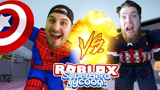 ROBLOX ADVENTURE - ROPO IS SPIDER-MAN & SHARKY IS CAPTAIN AMERICA!! (SUPER HERO TYCOON)