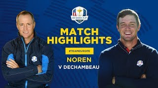 Noren vs DeChambeau | Ryder Cup Sunday Singles Highlights