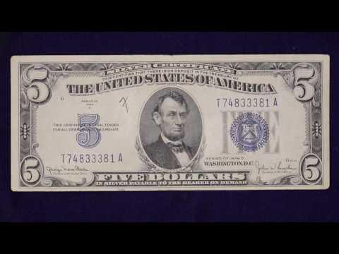 5 Dollar 1934 Silver Certificate