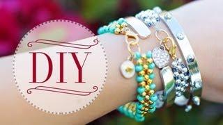 DIY Beaded Charm Bracelets {Ft. PaperPas...