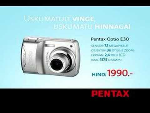 pentax optio e30 user manual