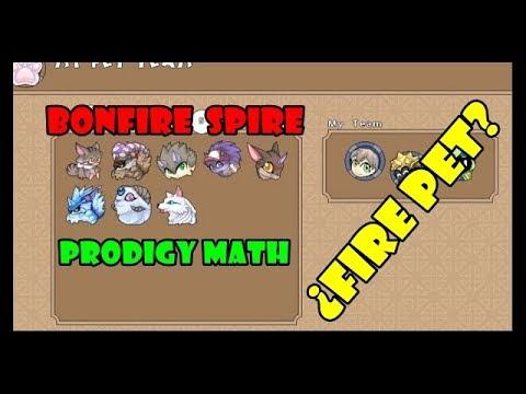 Prodigy Math Game Bonfire Spire 2da Mision Fire Pet Level 51