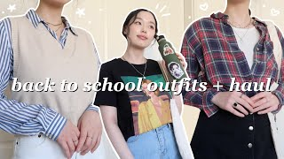 casual and cute outfits for back to school + thrift haul!