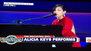 "Alicia Keys 2013 Commander in Chief Ball performing ""New Day"" and ""Obama"