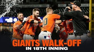 Giants walk-off in the 18th!