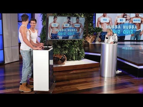 Ellen Tests Her Hunky Hotties in 'Hubba Hubba Quiz Quiz'