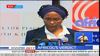 AFRICOG Chairperson Gladwell Otieno shares their verdict of the just concluded general elections