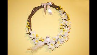 Пасхальный декор своими руками / Как сделать венок / Easter wreath with their hands
