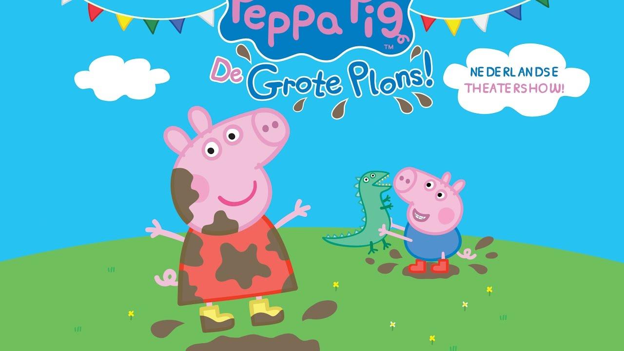 Première Verslag Peppa Pig De Grote Plons Kiddowz Voor