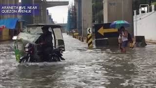Flooded areas in Quezon City