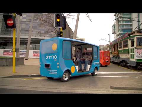 Ohmio self-driving vehicle launch Christchurch, New Zealand