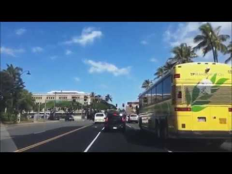 США(часть.123)Driving from Honolulu to Kahului. Hawaii. April 11 ,  2017(music)