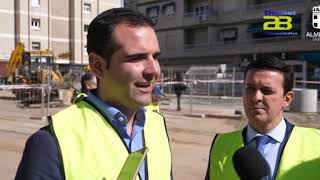 El alcalde anuncia celeridad en las obras de remodelación de la calle Santiago