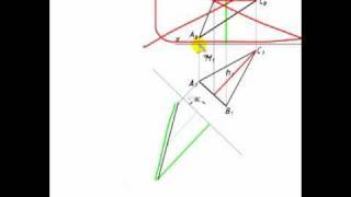 [Начертательная геометрия] Задача на замену проскостей (3 тип).mp4
