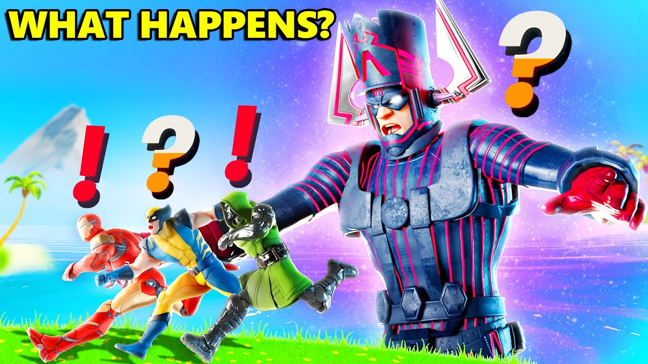 What Happens if Boss Galactus Meets ALL BOSSES in Fortnite Live Event (Ironman, Wolverine, Dr Doom)