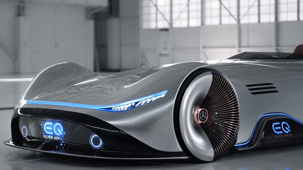 Mercedes Vision Eq Silver Arrow Concept Car