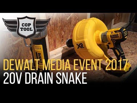 Dewalt 20V Drain Snake Up to 35' Manual Feed - Dewalt Media Event 2017
